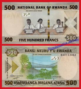 RUANDA-RWANDA-500-Francos-francs-2019-NEW-DESIGN-Pick-New-SC-UNC