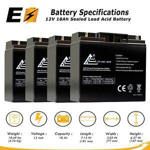 Mighty Max Battery 12V 18AH SLA Battery for Dynatech SPF-550-2 UPS Brand Product