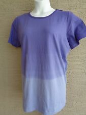 Only Necessities by Woman Within Purple Dip Dyed Crew Neck Tee Top Plus L 18-20