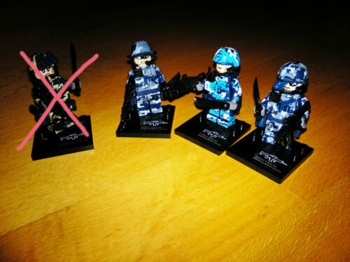1 Soldier Custom Figure Weapons and Accessories SWAT Military compatible with Lego WWII