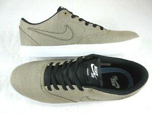 Details about Nike Mens SB Check Solar Canvas Premium Skate Shoes Khaki White Black Size 9