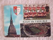 CARTOLINA CALCIO SQUADRA TORINO CALCIO 1966 E STADIO COMUNALE - VIAGGIATA
