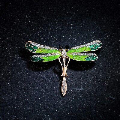 Boucles d/'Oreilles Petit Dormeuses Doré Libellule Insect Email Violet Feuille L9