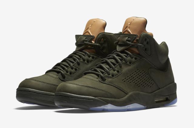 tania wyprzedaż usa dobra tekstura różne wzornictwo Nike Air Jordan 5 Retro Prem V Premium Take Flight Men Sequoia Aj5  881432-305 10