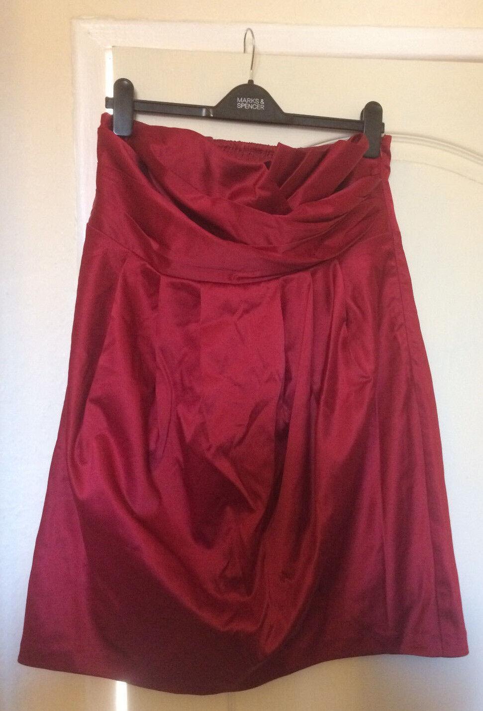 Brand New Layered ruching Wine red Prom wedding bridesmaid dress New Look Siz 18