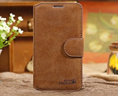 Genuine Leather Flip Credit Card Slot Stand Cover Case Wallet For Samsung Galaxy