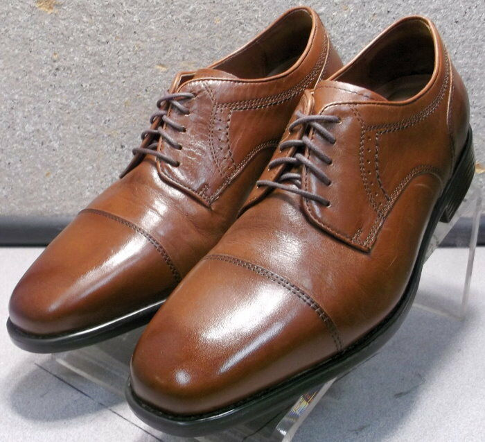 152726 PF50 Men's Shoes Size 9.5 M Brown Leather Lace Up Johnston & Murphy