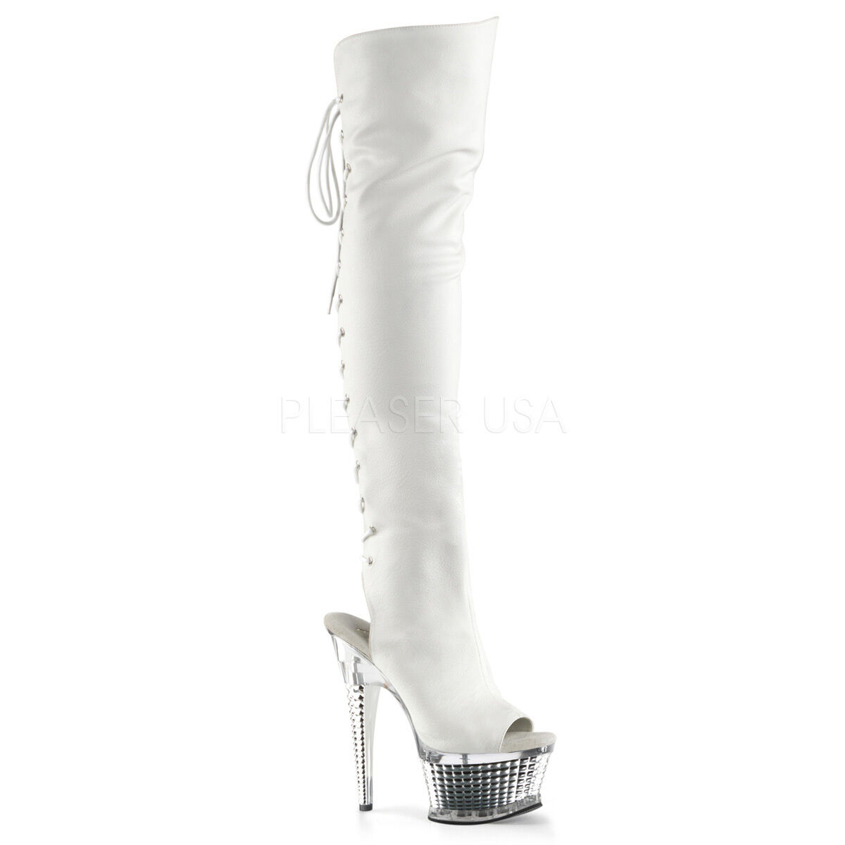 Pleaser ADORE-3019 ADORE-3019 ADORE-3019 BEJEWELED-3019 DELIGHT-3019 ILLUSION-3019 Platform Thigh Boot 6796ab