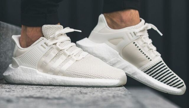 wholesale dealer 68bb1 13936 Adidas EQT Support 93/17 Boost Running Shoes Training Casual Off-White  BZ0586