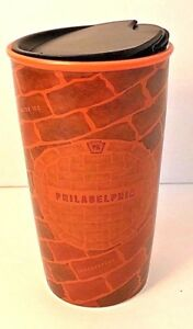 Starbucks-Philadelphia-Ceramic-Double-Wall-Traveler-Tumbler-12-Ozs-Cup-New-LE