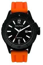 Orologio Nautica A15602G in gomma arancione cassa ip nero uomo sub 100 mt