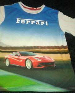 Ferrari-Men-039-s-Picture-Print-T-Shirt-Sz-L