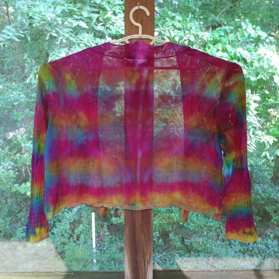 Tie Dye Womans Sweater Jacket - image 2