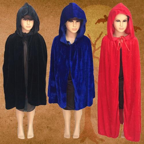 Halloween Kids Cloak Vampire Witch Prince Cosplay Party Cap Prank Coat Fancy