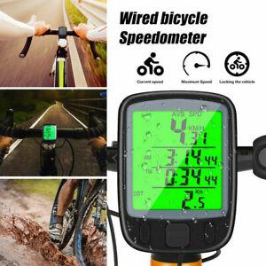 Waterproof Wired Bike Bicycle LCD Digital Cycling Computer Speedometer Odometer