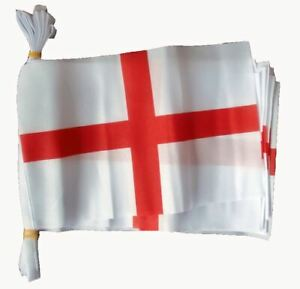3m-St-George-England-10-Flags-Fabric-Bunting-Decoration-Rugby-Football-Support