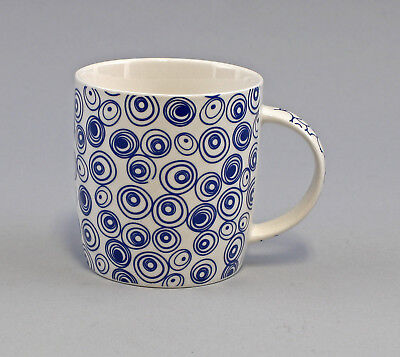 9952411 Becher Tasse Brillantporzellan Nippon Kiesel//Kreis türkis H9cm 0,4L