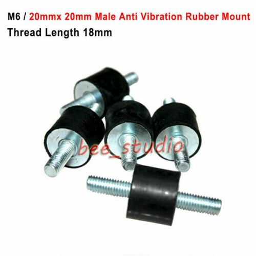 M6 Male connection Anti Vibration Rubber Mount Car Boat Bobbin Isolator Damper