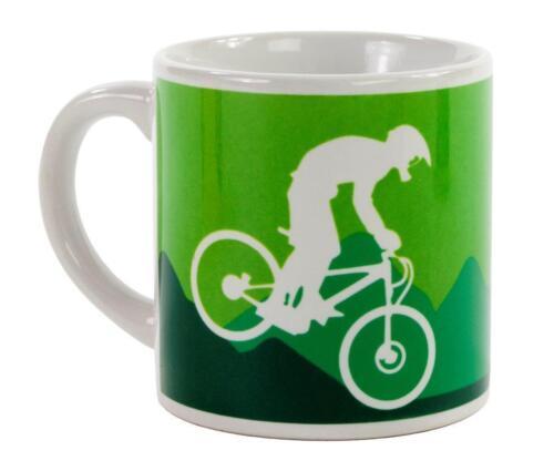 CYCLING DESIGNS MTB ROAD MOUNTAIN BIKE CYCLE ESPRESSO COFFEE MUG CUP 6oz