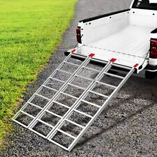 "70""x50'' Folding ATV Motorcycle Loading Trailer Ramp Pickup Truck Ramps Tri-Fold"