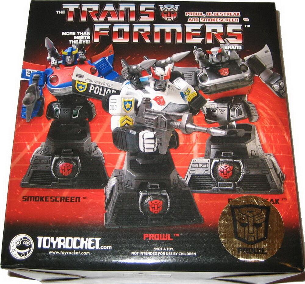 Transformers G1 Autobot Autobot Autobot Car Bust Statue Set of3 - Smokescreen Prowl & blueestreak 0ce2f5