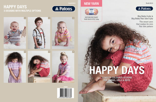 Patons Pattern Book 8015 Happy Days 3 Designs In Big Baby