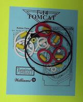 1987 Williams F-14 Tomcat Pinball Rubber Ring Kit
