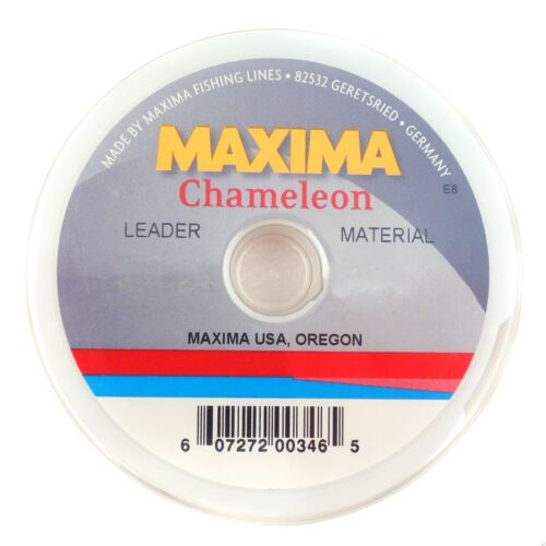 NEW MAXIMA CHAMELEON LEADER MATERIAL 5LB 27YD SPOOL fly fishing durable