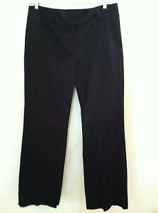 New Chico's 2.5 L 14 womens black pants casual polished cotton stretch size $88