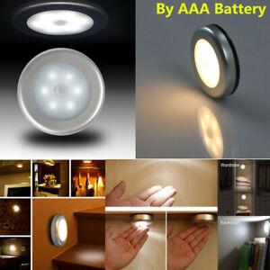 6LED Détecteur de mouvement Éclairage PIR Sans Fil Lumière Nuit Armoire batteries d/'Escalier Lampe