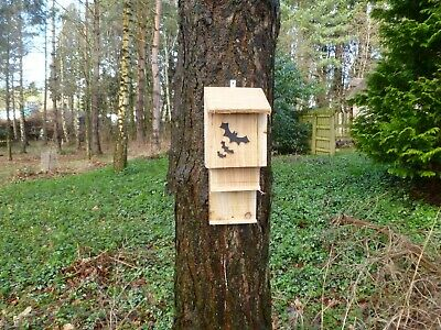 2019 Ultimo Disegno Bat/roost Nido Box Eco Friendly, Hand Made By Homes For Woodland Folk-