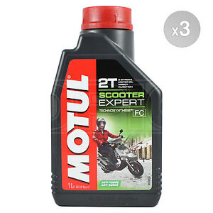 Details about Motul Scooter Expert 2T Engine Oil 2 Stroke Moped Motor Oil 3  x 1 Litres 3L