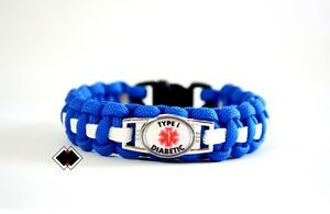 Image Is Loading Type I Diabetic Medical Alert Bracelet 550 Paracord