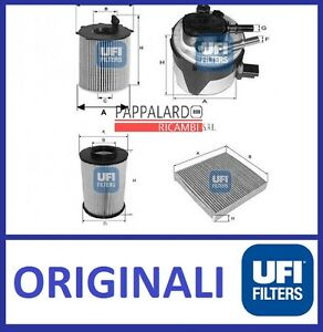 KIT-TAGLIANDO-FILTRI-UFI-Ford-Focus-II-1-6-TDCI-66-74-80-KW-DAL-04-2007-AL-2011