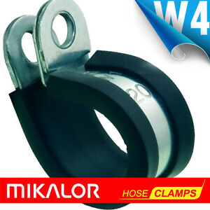 RUBBER-LINED-STAINLESS-STEEL-P-CLIPS-W4-304-MIKALOR-P-CLIPS-EPDM-RUBBER-LINED