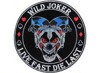 (f20) Wild Joker Live Fast Die Last 4 Iron On Patch (4651) Biker Vest
