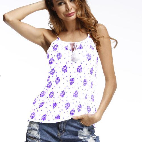Women Chiffon Sleeveless Blouse Ladies Loose T-Shirt Vest Tank Top Summer Sports