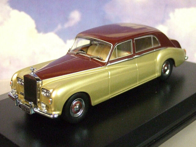 Oxford 1/43 Rolls Royce Phantom V 5 James Young Burdeos/ Silversand (Pale Gold)