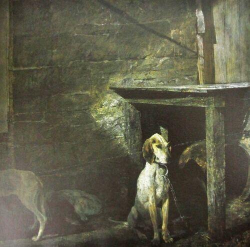 Vintage Art Andrew Wyeth Bird in House 1979 Raccoon 1958 Mantle Hunting Dog Folk