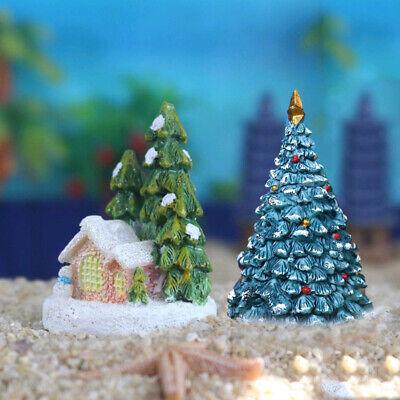 Christmas Tree Ornament For Fish Tank Aquarium Resin ...