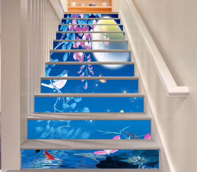 3D Mond Taube Stair Risers Dekoration Fototapete Vinyl Aufkleber Tapete DE