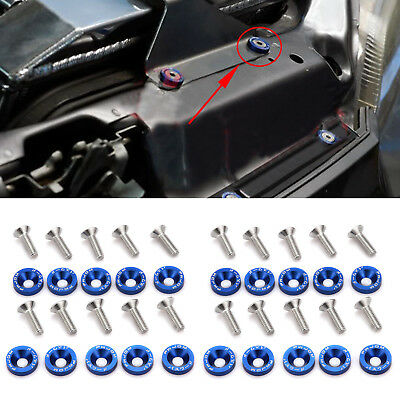 20Pcs M6  Fender Bumper Washer Billet Aluminum Bolt Engine Decor Trim for Honda