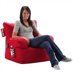 BRAND-NEW-Big-Joe-Dorm-Bean-Bag-Chair-Bedroom-Game-Sports-Room-Lounge-in-RED