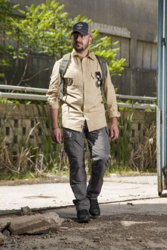 Pentagon Man Casual Shirt Military Tactics Plato Shirt over Sizes Coyote