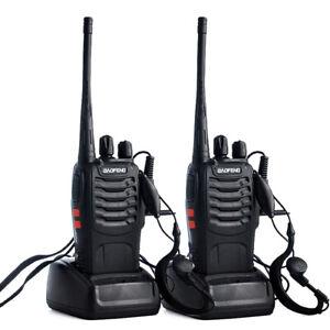 2-x-BaoFeng-Walkie-Talkie-UHF-BF-888S-2-Way-Radio-400-470MHZ-16CH-With-Earphone