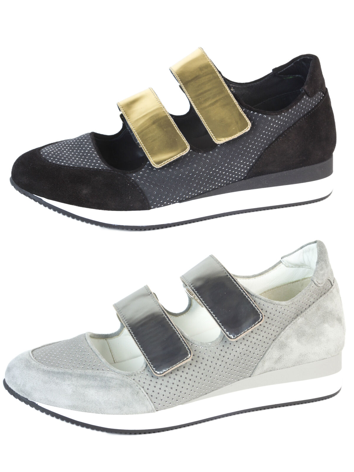 Sito ufficiale MAX MARA Donna  MM34 Leather Velcro scarpe scarpe scarpe da ginnastica  495 NIB  punti vendita
