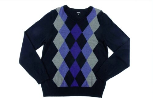 Beautiful Bowen /& Wright Lambswool Argyle V-Neck Sweater M