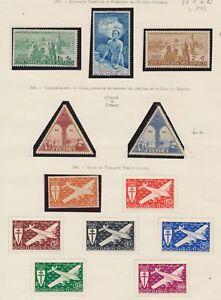 TIMBRES-COLONIE-COTE-DES-SOMALIS-PA-de-1943-1956-du-N-1-a-26-Neuf-N1932