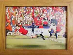 Wales V England - Rugby Six Nations- Watercolour Painting - Tony Paultyn
