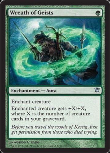 4 Wreath of Geists ~ Near Mint Innistrad 4x x4 Playset MTG Magic Green Card Ulti
